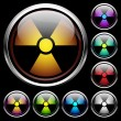 Set icons of radiation — Stock Vector