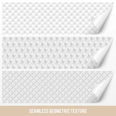 Seamless geometric texture on paper — Stock Vector