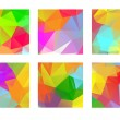 Set of abstract colorful geometric polygonal square. — Stock Vector