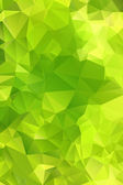 Green abstract background polygon. — Stock Vector