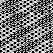 Simple black and white dot seamless pattern — Stock Vector