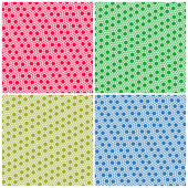 Set of simple colorful seamless patterns dots — Stock Vector