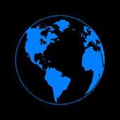Pixel planet — Stockvektor
