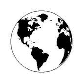 Pixel planet — Stock Vector