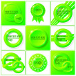 Green abstract vector set of backgrounds for your design — Stock Vector