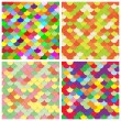 scale color paper backgrounds set — Stock Vector
