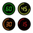Digital Countdown Timer — Stockvector #36153181