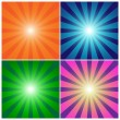 Stock Vector: Rays background set