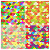 Scale color paper backgrounds set — Vector de stock