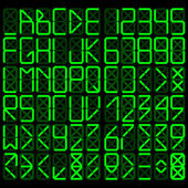 Alfabeto digitale — Vettoriale Stock
