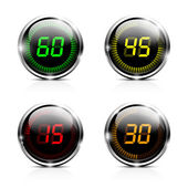 Electronic brilliant countdown timers — Stock Vector