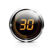 Electronic timer 30 seconds — Stock Vector