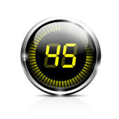 Electronic timer 45 seconds — Stock Vector