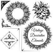 Elementi decorativi vintage — Vettoriale Stock