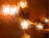 Abstracte glanzende achtergrond brown veelhoekige — Stockvector