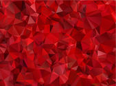 Garnet red abstract background polygon — Stock Vector