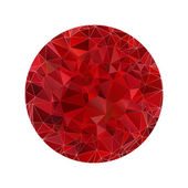 Red polygonal sphere — Stock Vector