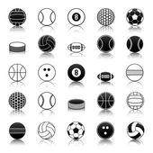 Sport balls icons pack — Stock Vector