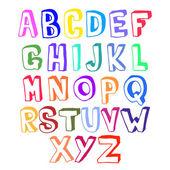 彩色的字母表卷 — 图库矢量图片
