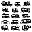Recreational Vehicles Icons — Stock Vector #46030823
