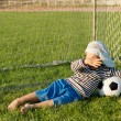 Young boy with his soccer ball — Stock Photo #12899486