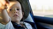 Young boy in a sunhat — Stock Photo