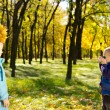 Autumn photography fun — Stock Photo