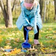 Royalty-Free Stock Photo: Little girl digging in the park