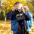 Aspiring young photographer — Stock Photo