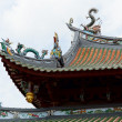Ornate Asian temple roofline - Stock Photo