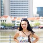 Beautiful brunette posing — Stock Photo #16429555