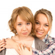 Affectionate woman friends — Stock Photo