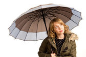 Attractive young woman with an umbrella — Stock Photo