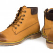 Постер, плакат: Mens leather ankle high boots