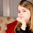 Pretty pensive little girl — Stock Photo