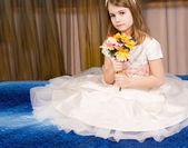 Beautiful little girl in a tutu — Stock Photo
