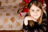 Portrait of a beautiful little girl — Stock Photo