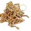 Royalty-Free Stock Photo: Pile of gold jewellery