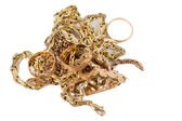 Pile of gold jewellery — Stock Photo