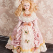 Antique doll in beautiful clothes — Foto Stock