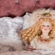 Stock Photo: Face of beautiful vintage doll
