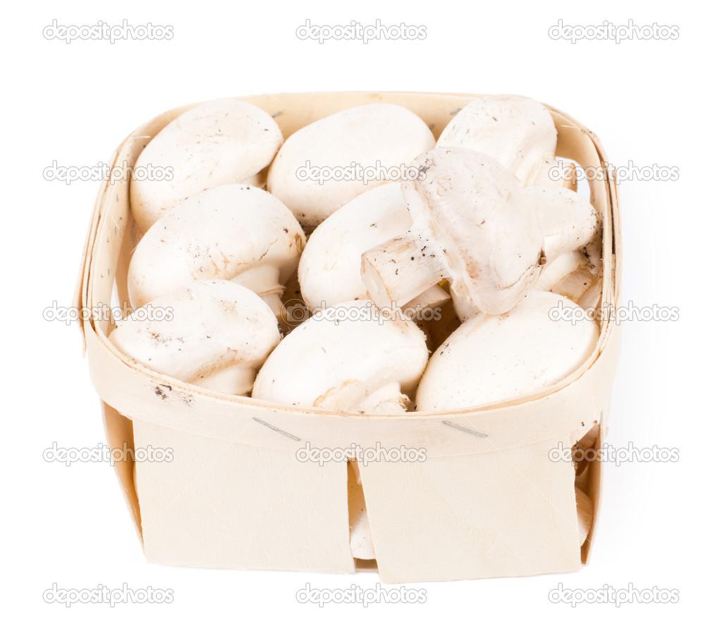 barquette de champignons de paris frais photographie vaicheslav 22438259. Black Bedroom Furniture Sets. Home Design Ideas