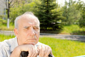 Old man face — Stock Photo