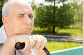 Senior bald man — Stock Photo