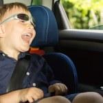 Happy little boy clowning around — Stock Photo #26144643