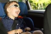 Happy little boy clowning around — Stock Photo