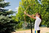 Shooting the arrow — Stock Photo