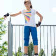 Young female roller skater — Stock Photo