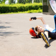 Accident while roller skating — Stock Photo