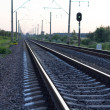 Empty rural railway tracks — Stock Photo